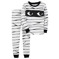 Toddler Boy Carter's Halloween Mummy Top & Bottoms Pajama Set