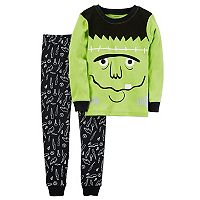Toddler Boy Carter's Halloween Frankenstein Top & Bottoms Pajama Set