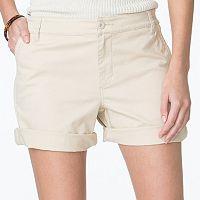 Women's Chaps Cuffed Twill Shorts