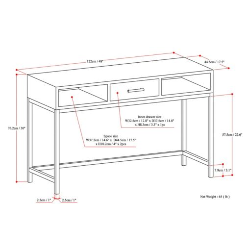 Simpli Home Riordan Console Table