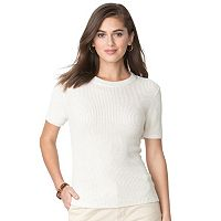 Women's Chaps Ribbed Crewneck Sweater