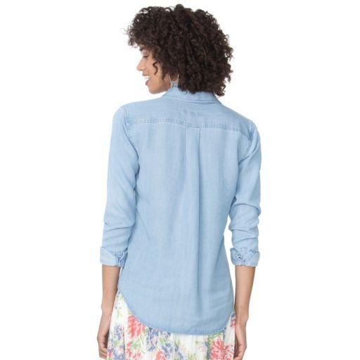 Women's Chaps Button-Down Jean Shirt