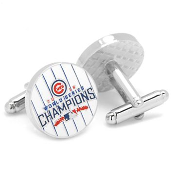 Chicago Cubs 2016 World Series Champions Pinstripe Cuff Links