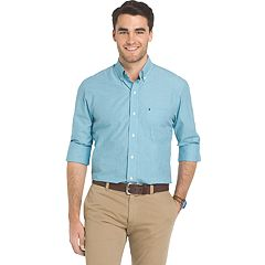 Big & Tall IZOD Essential Regular-Fit Button-Down Shirt