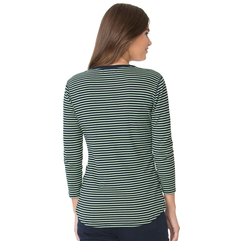 Women's Chaps Striped Henley
