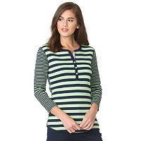 Women's Chaps Striped Henley
