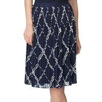Women's Chaps Printed Georgette Skirt