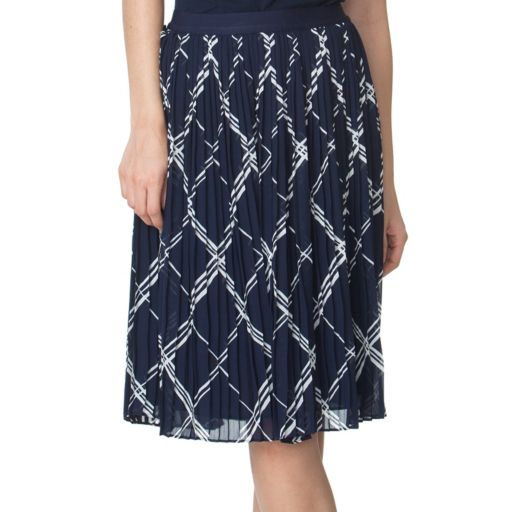 Women's Chaps Printed Georgette Skirt
