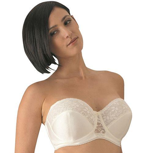 Carnival Bras: Full-Figure Lace Strapless Bra 123