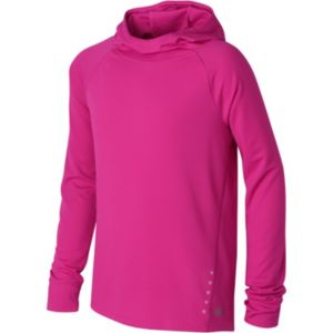 Girls 7-16 New Balance Long Sleeve Hooded Performance Tee