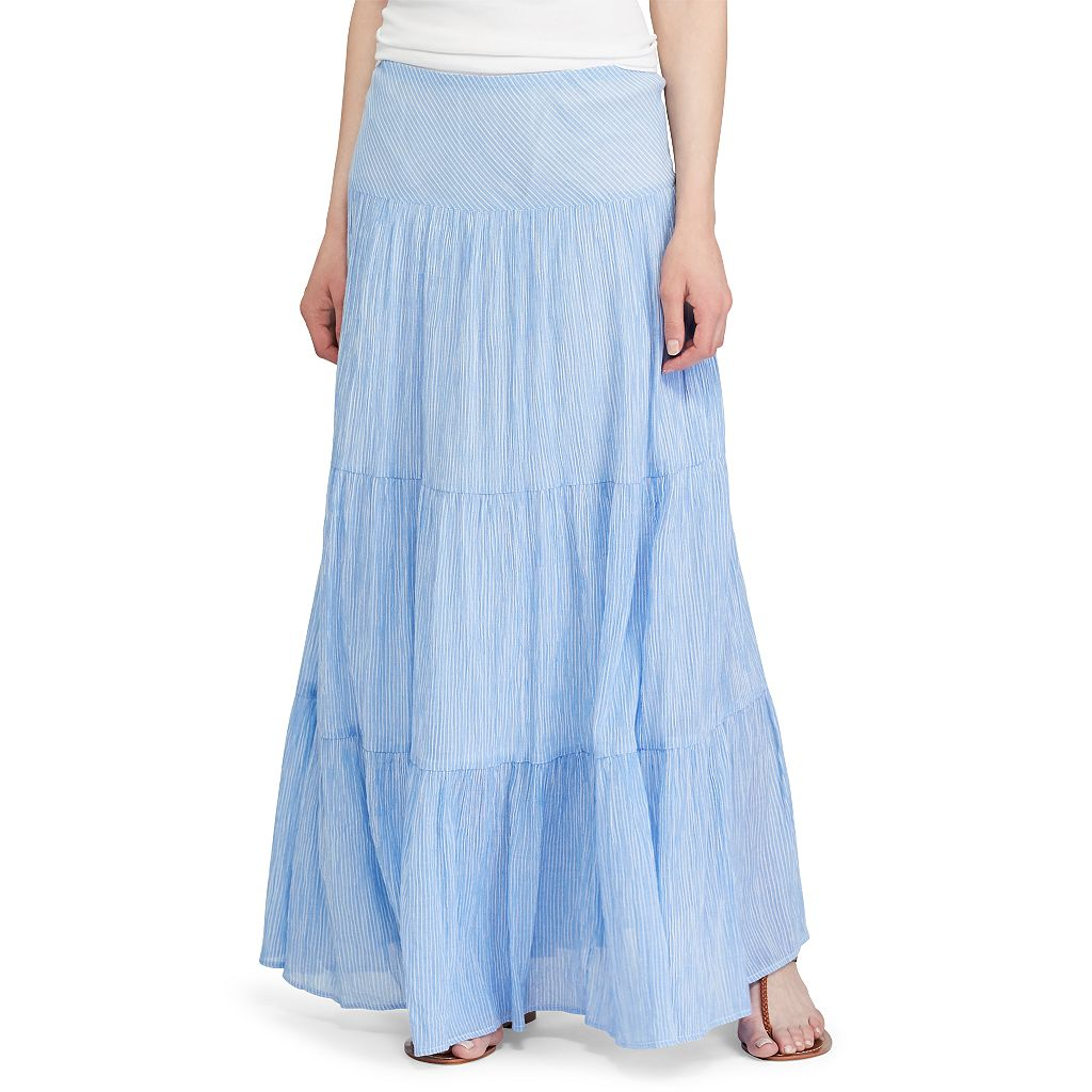 Women's Chaps Tiered Maxi Skirt