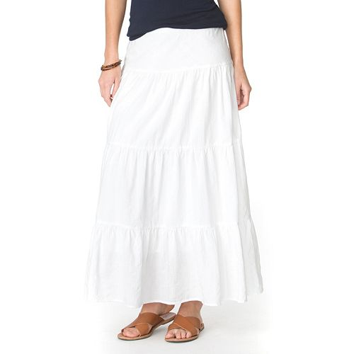 Women's Chaps Tiered Maxi Skirt