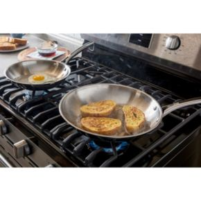 Revere Copper Confidence Core 2-pc. Stainless Steel Frypan Set