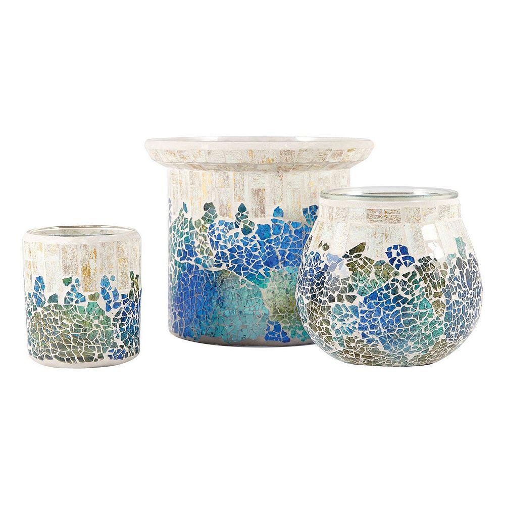 Pomeroy mosaic candle holder 3 piece set