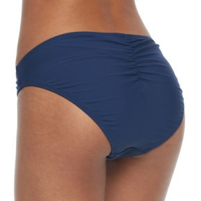 Juniors' Social Angel Solid Ruched Bikini Bottoms