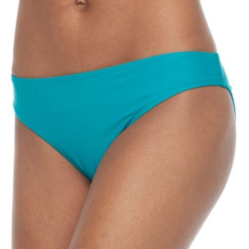 Juniors' Social Angel Solid Ruched Bikini Bottoms