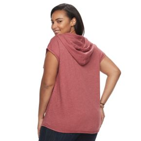Plus Size SONOMA Goods for Life™ Embroidered Hoodie
