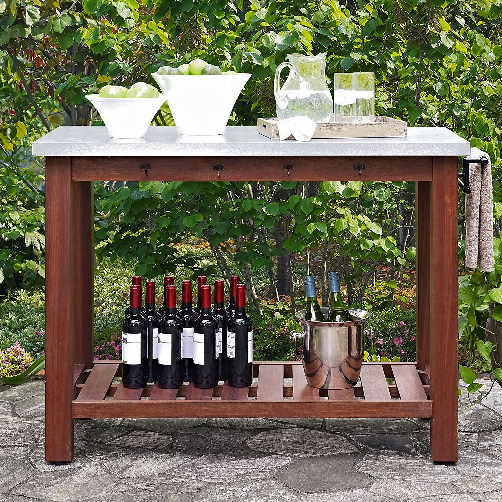 Crosley Furniture Mesa Indoor / Outdoor Island Buffet Table