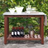 Crosley Furniture Mesa Indoor / Outdoor Island Buffet Table