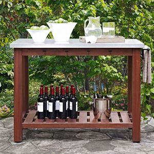 Crosley Furniture Mesa Indoor \/ Outdoor Island Buffet Table