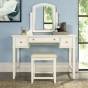 Crosley Furniture Vista Vanity & Stool 2-piece Set