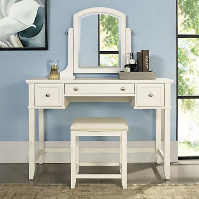 Crosley Furniture Vista Vanity & Stool 2-piece Set