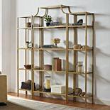 Crosley Furniture Aimee Bookshelf Shelving Unit 3-piece Set
