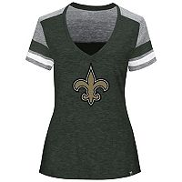 Women's Majestic New Orleans Saints Classic Moment Tee