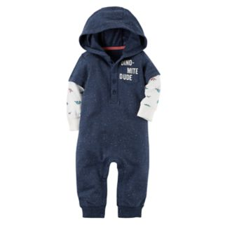 "Baby Boy Carter's ""Dino-Mite Dude"" Mock-Layer Coverall"