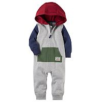 Baby Boy Carter's Hooded French Terry Colorblock Coverall
