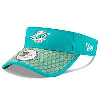 Adult New Era Miami Dolphins Sideline Adjustable Visor