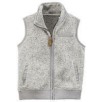 Baby Boy Carter's Marled Zip Sweater Vest