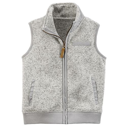 b911a17c Baby Boy Carter's Marled Zip Sweater Vest