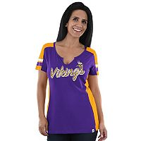 Women's Majestic Minnesota Vikings Pride Playing Tee