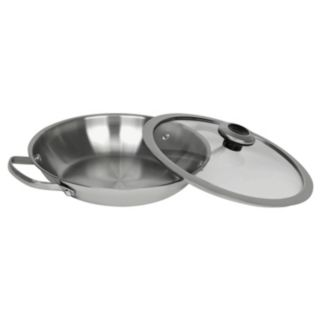 Revere Copper Confidence Core Stainless Steel Braising Pan with Lid