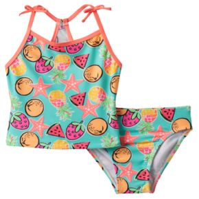 Girls 4-6x Freestyle Revolution Fruit & Starfish Tankini & Bottoms Swimsuit Set