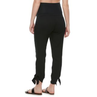Maternity a:glow Full Belly Panel Twill Pants