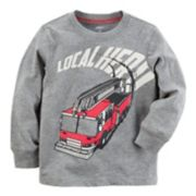 "Baby Boy Carter's ""Local Hero"" Fire Truck Graphic Tee"