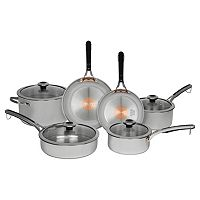 Revere Copper Confidence Core 10 pc Stainless Steel Cookware Set