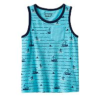 Toddler Boy Jumping Beans® Patterned Slubbed Pocket Tank Top