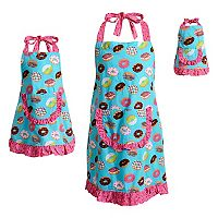 Girls 4-16 & Women's Dollie & Me Ruffled Donut Apron Set