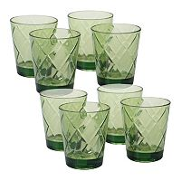 Certified International 8 pc Double Old-Fashioned Glass Set