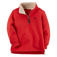 Baby Boy Carter's 1/4-Zip Red Fleece Mockneck Pullover
