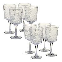 Certified International 8 pc Goblet Set