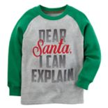 "Baby Boy Carter's ""Dear Santa, I Can Explain"" Raglan Tee"