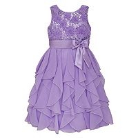 Girls 7-16 & Plus Size American Princess Sequin Bodice & Corkscrew Skirt Dress