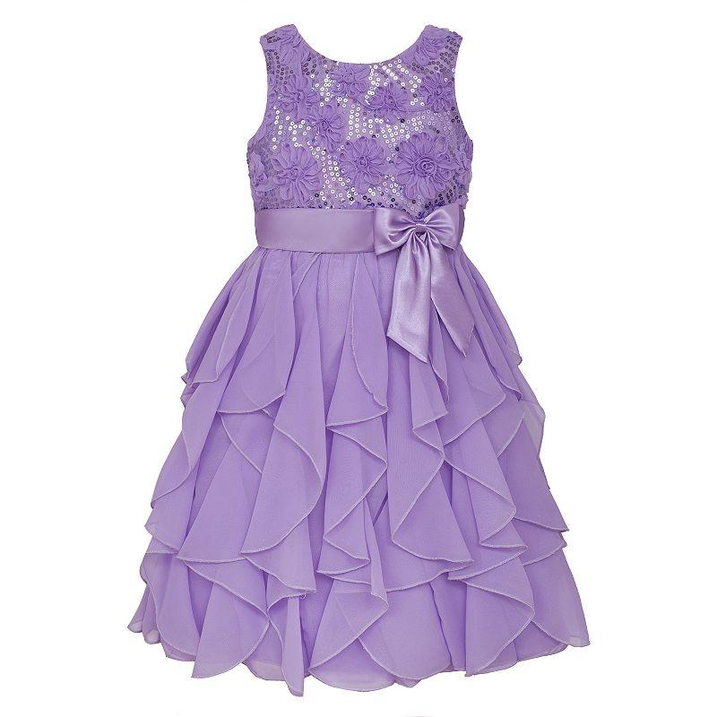 Girls 7-16 & Plus Size American Princess Sequin Bodice & Corkscrew Skirt Dress, Girl's, Size: 10, Purple Oth