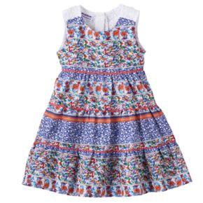 Toddler Girl Blueberi Boulevard Floral Crochet Dress