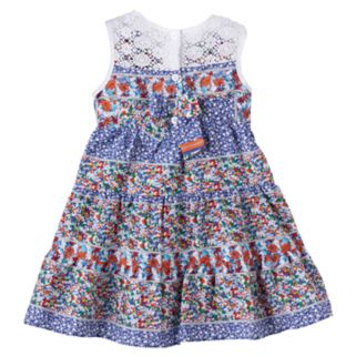 Toddler Girl Blueberi Boulevard Floral Crochet Dress
