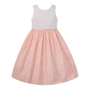 Girls 7-16 & Plus Size American Princess Rhinestone Waist & Lace Skirt Dress